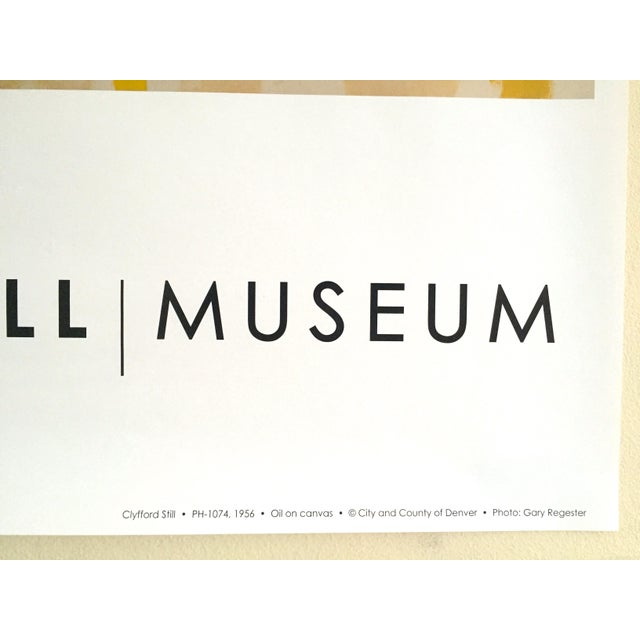 """Clyfford Still Abstract Expressionist Lithograph Print Poster """"Ph - 1074"""", 1956 For Sale - Image 9 of 11"""