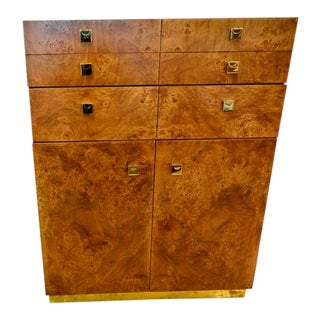 Mid-Century Modern Founders Burl Wood Chest of Drawers For Sale