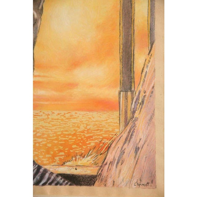One of a Kind Art Deco Watercolor by Eduard Chimot Custom Framed For Sale - Image 10 of 11