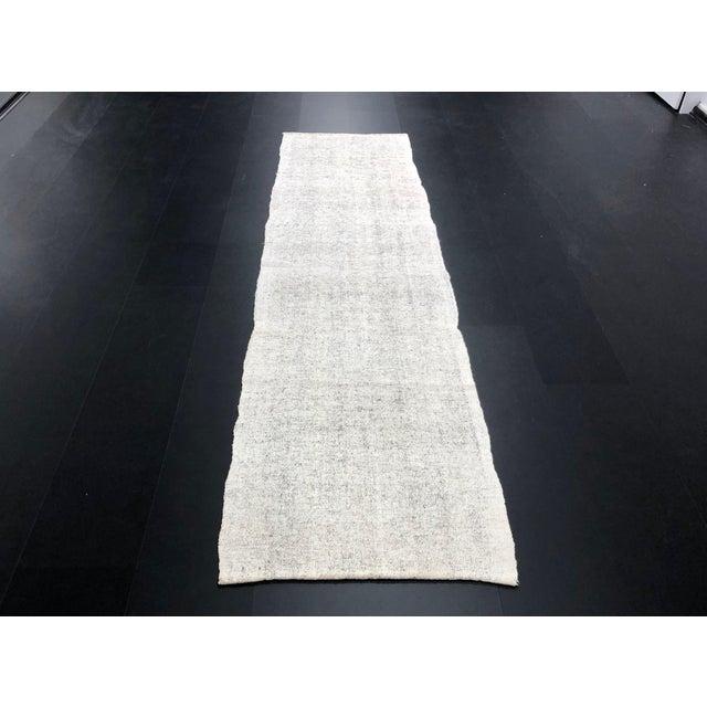 1960s Vintage Turkish Wool Handmade Nomadic Kilim Runner Rug - 2′6″ × 9′8″ For Sale - Image 11 of 11