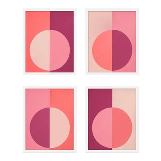 "Medium ""Pink Forevers, Set of 4"" Print by Stephanie Henderson, 32"" X 40"" For Sale"