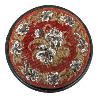 Round Beaded Foot Stool For Sale