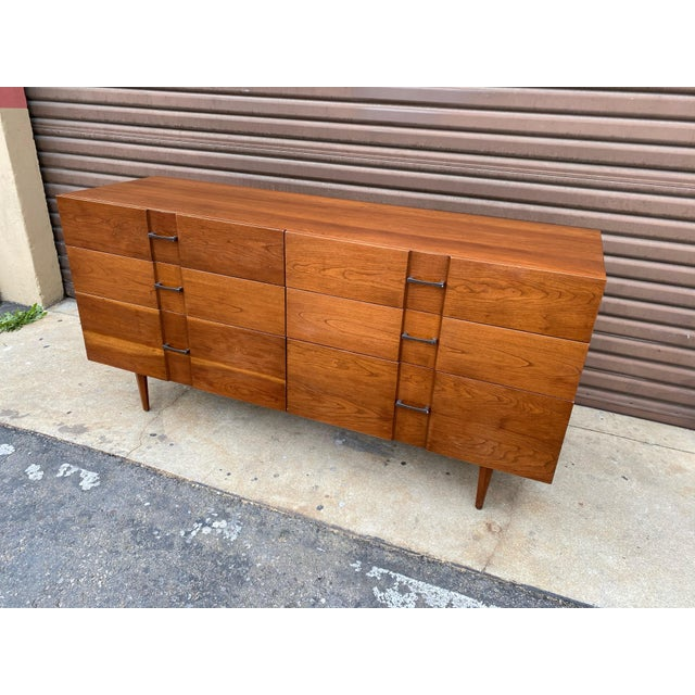 Rare dresser designed by Kipp Stewart and Stewart MacDougall for the American Design Foundation. Manufactured by...