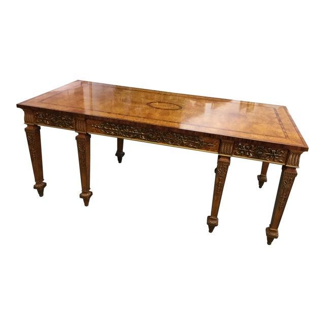 Burlwood Ornate Writing Desk Chairish