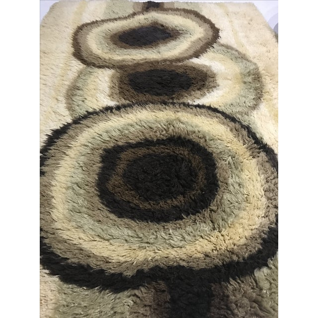 "Mid-Century Danish Wool Rug - 4'8"" X 6'5"" - Image 3 of 5"