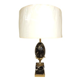 Vintage Ceramic French Table Lamp For Sale