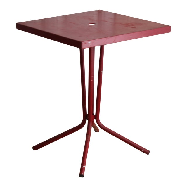 Vintage French Red Garden Table - Image 8 of 8