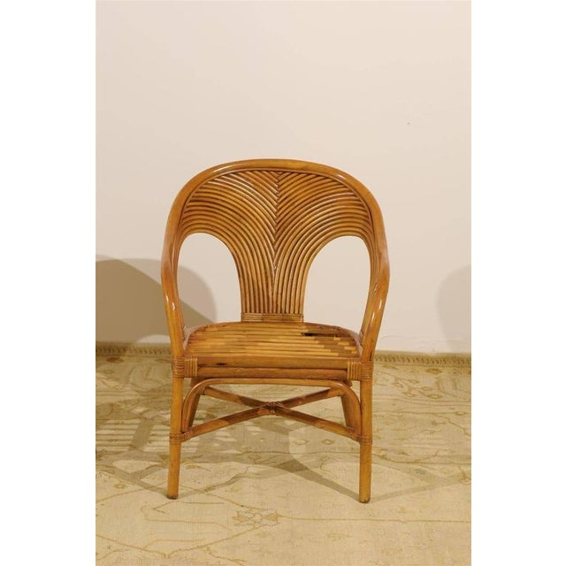 Sculptural Set of Six Vintage Bamboo Dining Chairs For Sale - Image 9 of 11