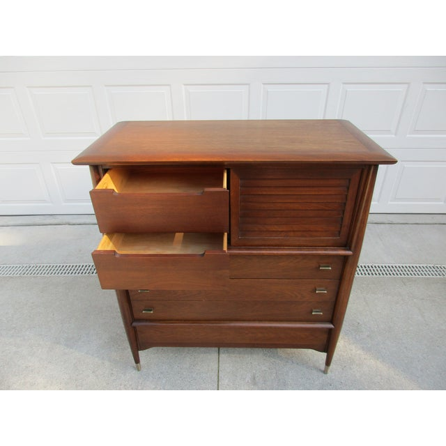 Metal Mid-Century Modern Rway Tall Chest of Drawers -Custom Made For Sale - Image 7 of 13