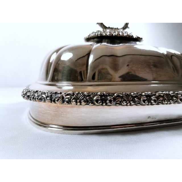 Old Sheffield Plate Dome Shaped Dish Cover With Tray William IV 1835 - 2 Pieces For Sale - Image 6 of 12