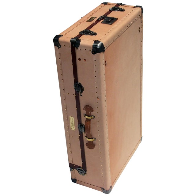 Knapp Antique Tanned Leather Tourist Trunk - Image 5 of 5
