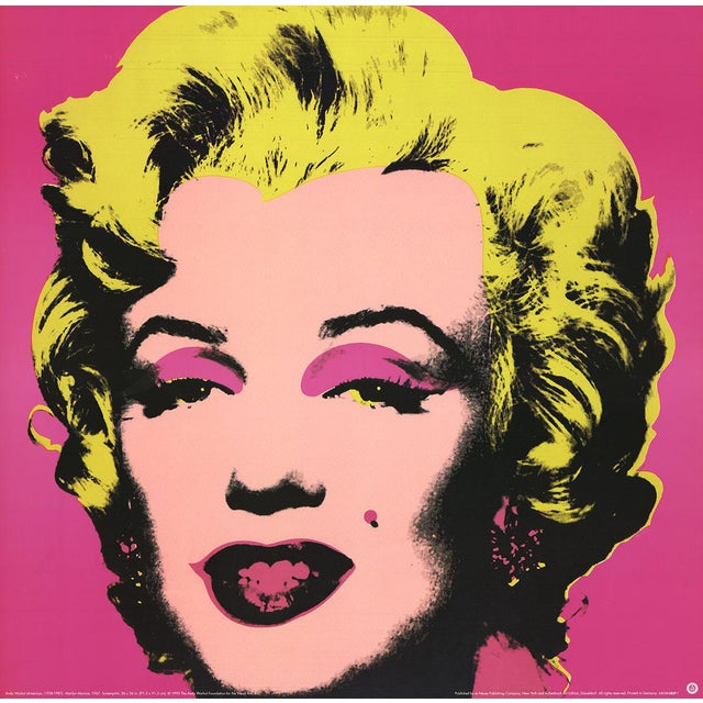 1999 Small Marilyn Pink Poster by Andy Warhol For Sale