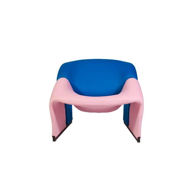 Pierre Paulin Oscar De La Renta Cashmere Upholstered Chairs & Ottomans- 4 Pieces - Image 7 of 10