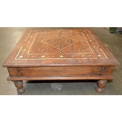 Asian Vintage Indian Bone Inlay Tea Table For Sale - Image 3 of 5