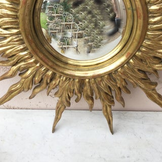 French Gilded Wood Convex Sunburst Mirror Preview