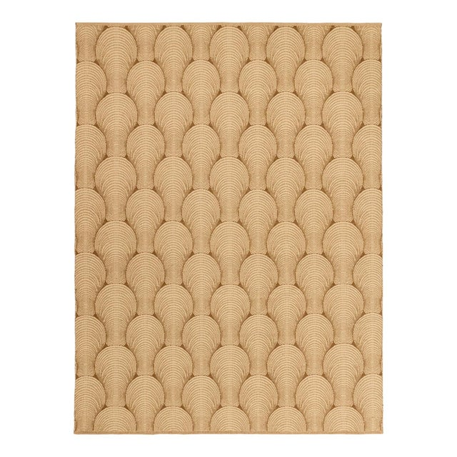 Contemporary Solo Rugs Grit and Ground Collection Contemporary Sea Shell Hand-Knotted Flatweave Area Rug, Brown, 5' X 8' For Sale - Image 3 of 3