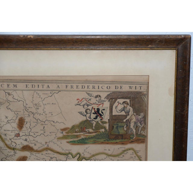 Late 18th Century 18th Century Map of the Historic County of Namur, Belgium For Sale - Image 5 of 9