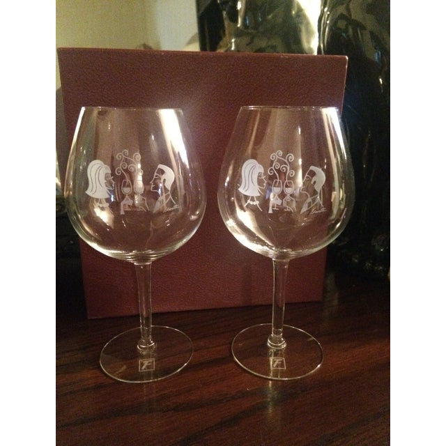 Mary Lynn Blaustta for Flemings Wine Glasses - a Pair For Sale - Image 10 of 10