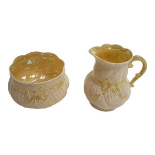 Belleek Creamer and Sugar Bowl Set For Sale