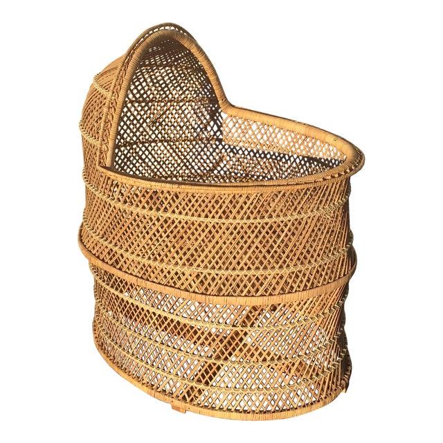 Bohemian Wicker Bassinet For Sale