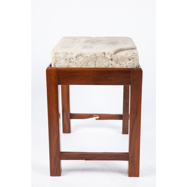 Indian Lithographed Stone Table II - Image 5 of 6