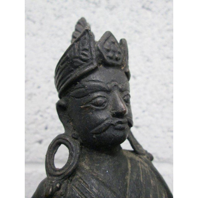 Pair Bronze Buddha Statues For Sale In New York - Image 6 of 10