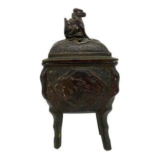 Antique Brass Incense Burner For Sale