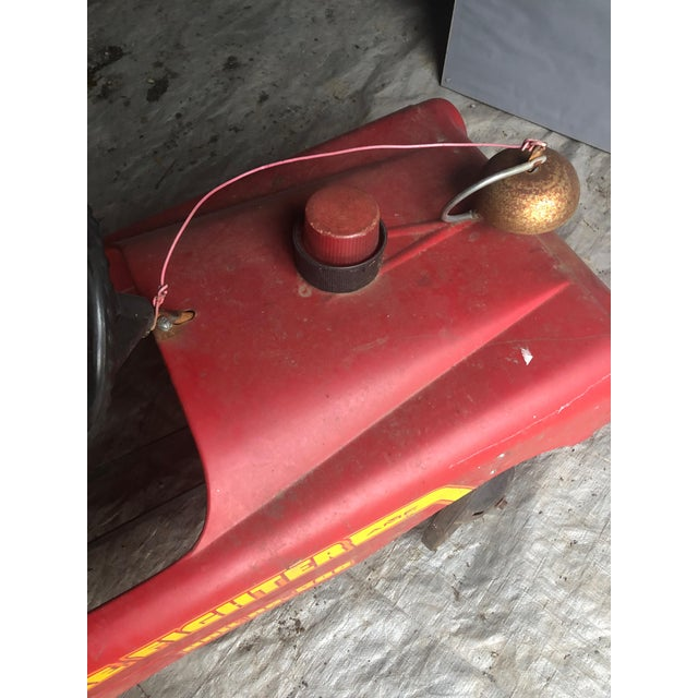 Metal Vintage Fire Engine Toy Pedal Car With Ladders For Sale - Image 7 of 8