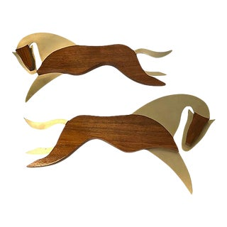 Mid-Century Modern Horse Wall Hangings - a Pair For Sale