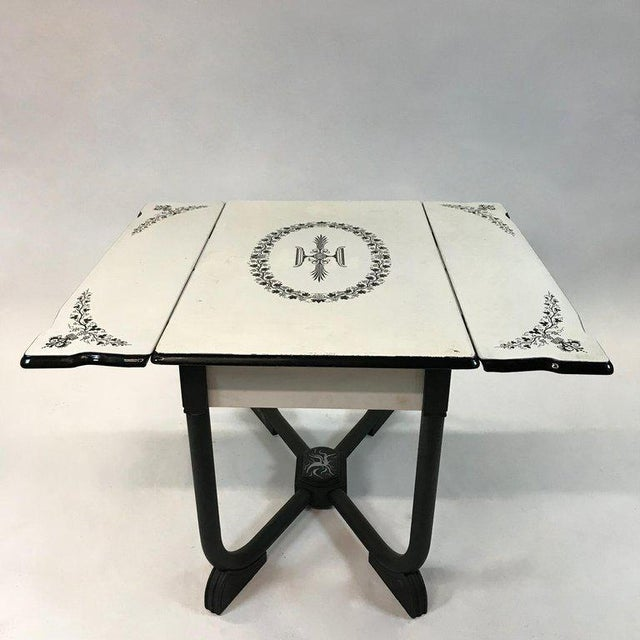 1930s Art Deco Metal Folding Dining Table For Sale - Image 9 of 9