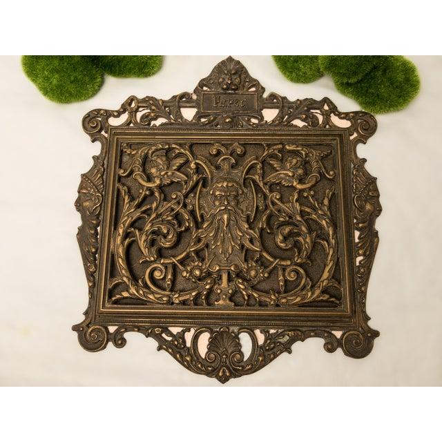 Bronze Italian Art Nouveau Bronze Letter Holder For Sale - Image 7 of 7