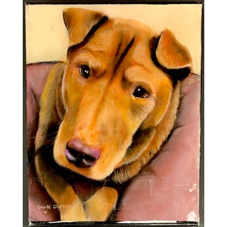 Oil/Pastel Painting of Dog by StevN Dutton For Sale
