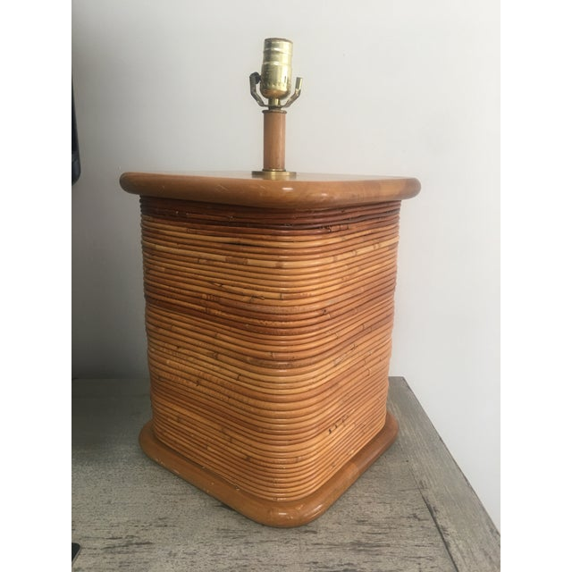 Gabriella Crespi Vintage 1970s Gabriella Crespi Style Pencil Reed Table Lamp For Sale - Image 4 of 12