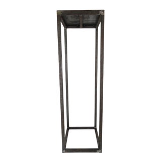 Modern Custom Natural Finish Metal Pedestal For Sale