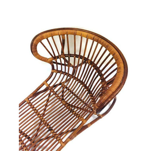 Mid Century Modern Franco Albini Chaise Lounge Sculpted Bamboo Daybed For Sale - Image 9 of 12