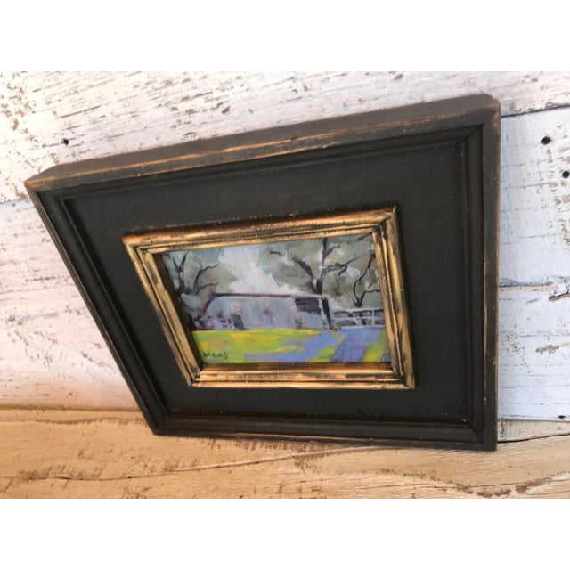 This is a contemporary painting titled Amador Country Barn. The piece depicts a landscape scene in California. Original...