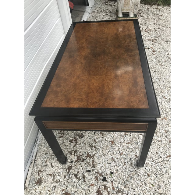 Brown Vintage Century Furniture Chin Hua Chinoiserie Desk and Chair For Sale - Image 8 of 11