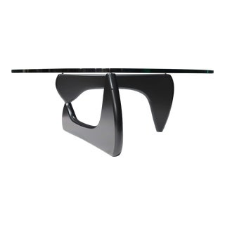 Noguchi for Herman Miller Signed Coffee Table With Black Base For Sale
