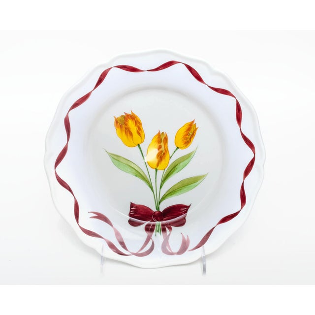 Beautiful set of dinner plates made by Este Ceramiche, one of the oldest pottery manufacturers in Europe and producer of...