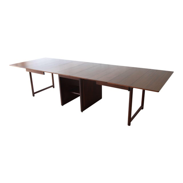 Large Edward Wormley for Dunbar Mahogany Extension Dining Table For Sale