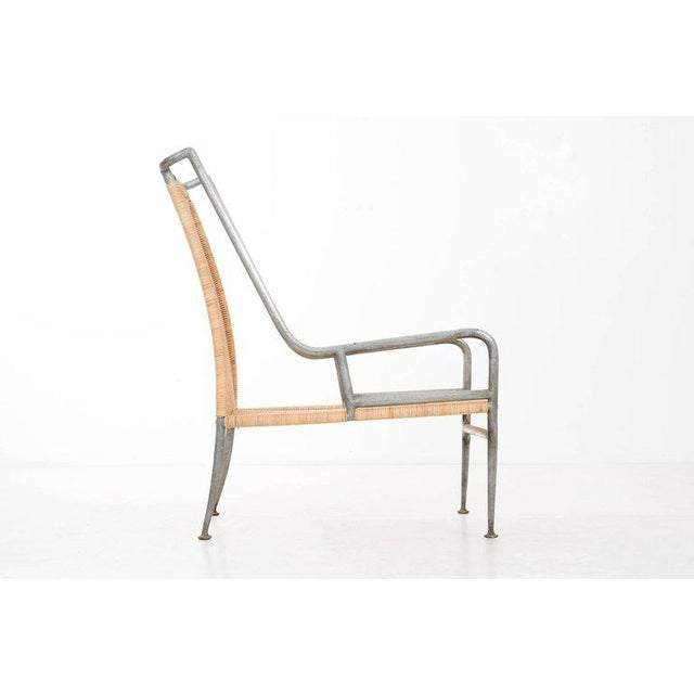 Arturo Pani Arturo Pani Prototype Magnesium/ Aluminum Chair For Sale - Image 4 of 7