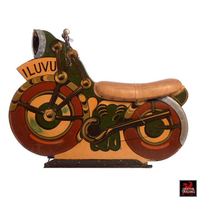 Wow, coolest carousel ride we have ever had. This 1930s-1940s antique motorcycle is one of the earliest produced for...