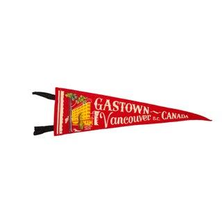 Gastown, Vancouver BC Canada Felt Flag For Sale