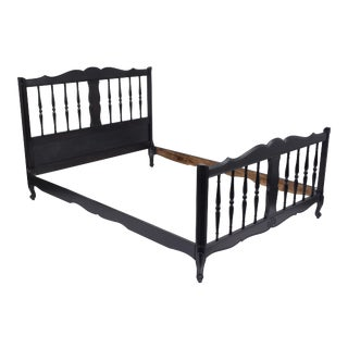 French 19th Century Ebonized Full Size Bed Frame For Sale