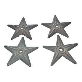 Antique Cast Iron Stars - Set of 4