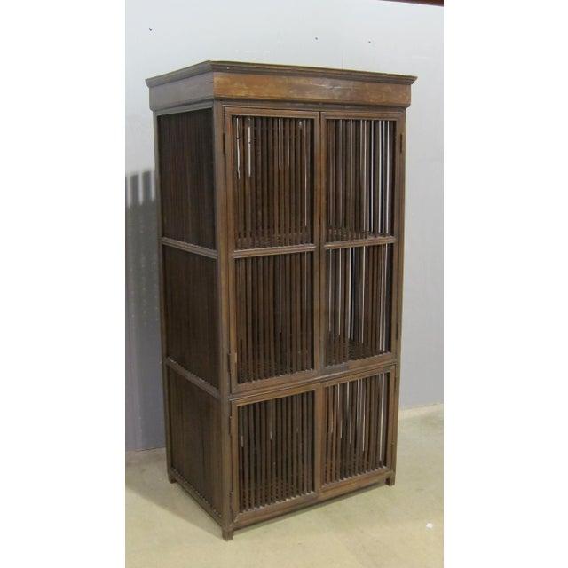 Vintage Sarreid LTD Philippine Teak Cabinet Cupboard - Image 2 of 7
