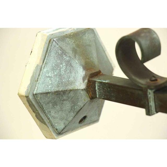 Antique Lantern Sconce For Sale - Image 5 of 9