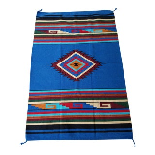 El Paso Saddle Blanket Navajo Style Rug - 3′10″ × 6′