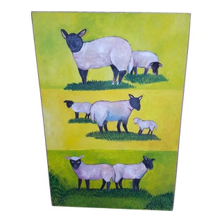 Sheep In Pasture Painting