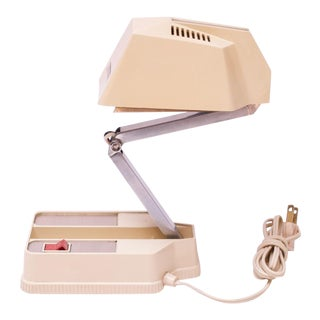 Vintage Collapsible Task / Table Lamp by Electrix in Off-White For Sale